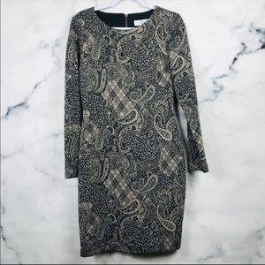 Belle Badgley Mischka Paisley Sheath Dress